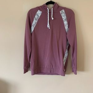Kismet mauve hoodie with lace inserts